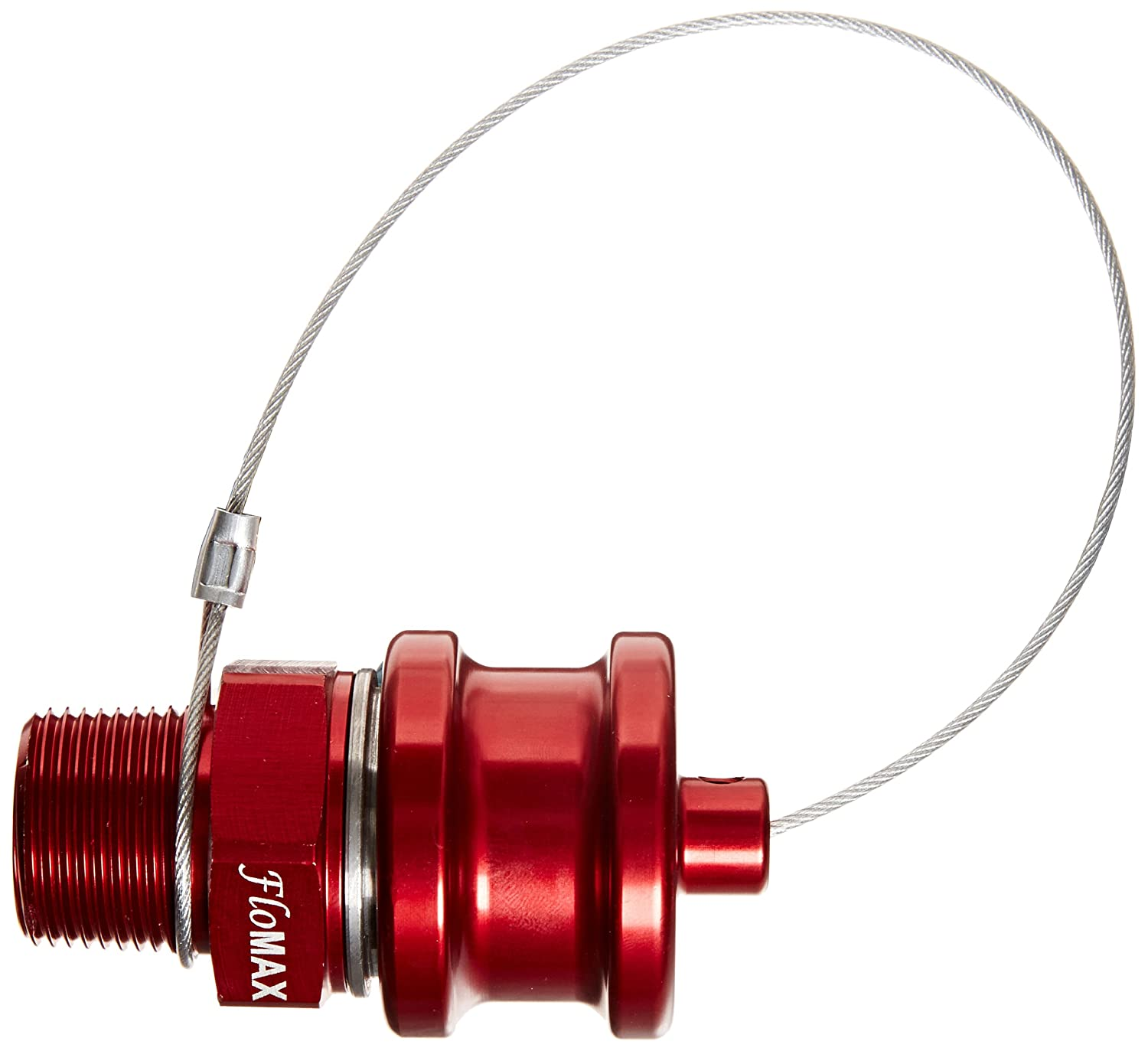 Dixon ERS-C Red Anodized Aluminum Dry Disconnect Fitting Flomax Standard Engine Oil Receiver with Cap 3//4 NPT Male