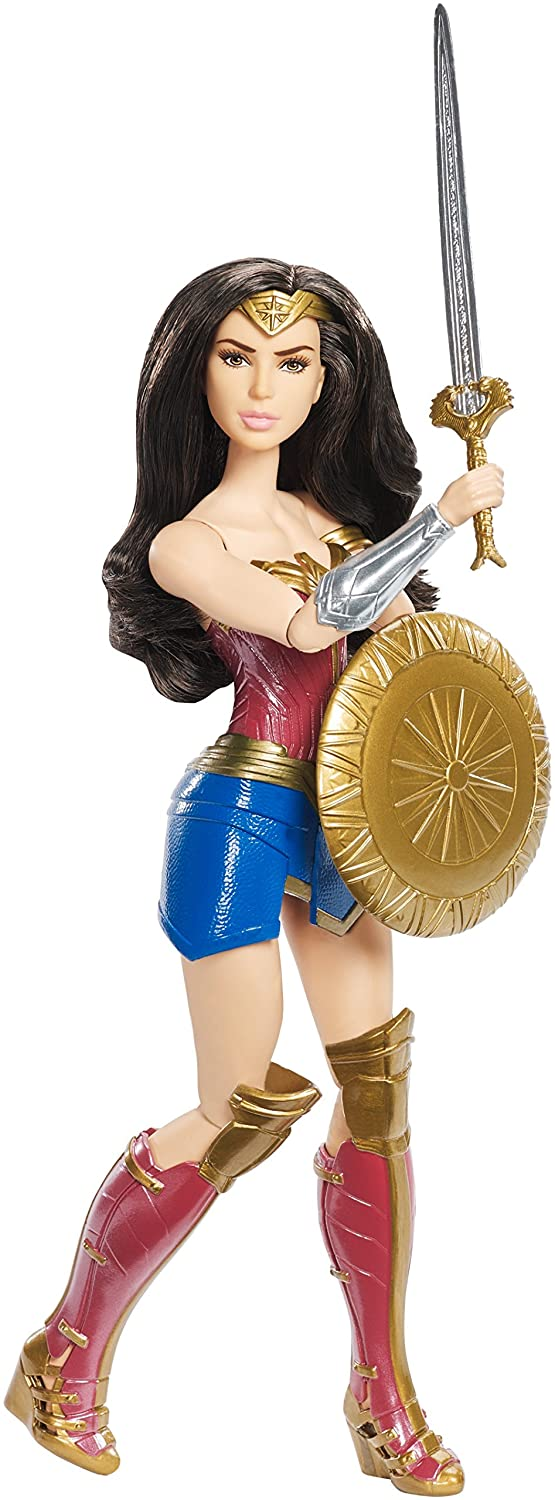 Mattel DC Wonder Woman Shield Block Doll, 12""