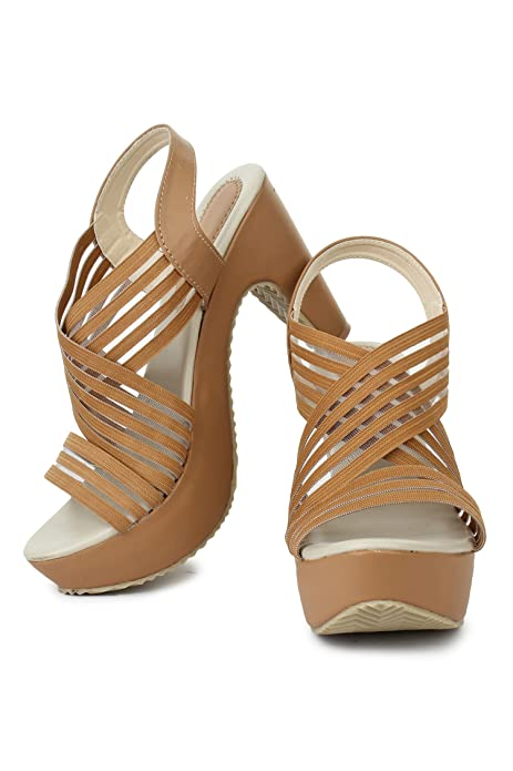 4d0b9256750b43 Beauty Queen Stylish Bahubali Block Heel Sandal for Women  Buy Online at  Low Prices in India - Amazon.in