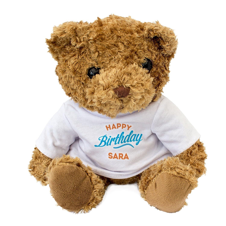 New Teddy Bear Gift Present Happy Birthday SARA Cute Soft Cuddly