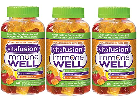 Amazon.com: Vitafusion Immune Well Gummies, 60 Count: Health ...