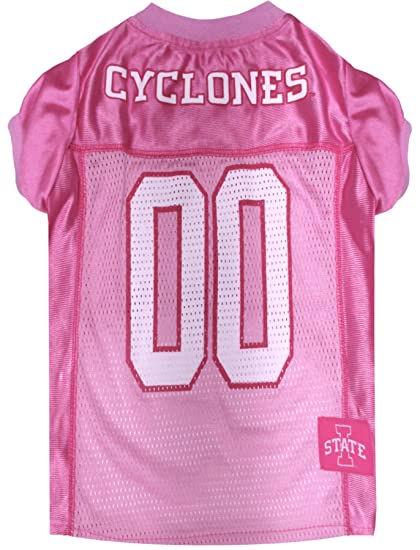 Pet Pink Sports Outfit NCAA Dog Pink Football Jersey