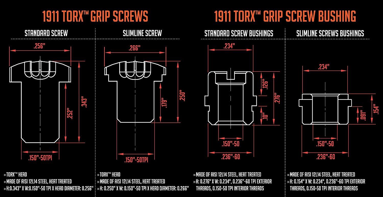 81zdmvxQppL._SL1500_ amazon com 1911 torx grip screws with true 24k gold coating x4 pcs