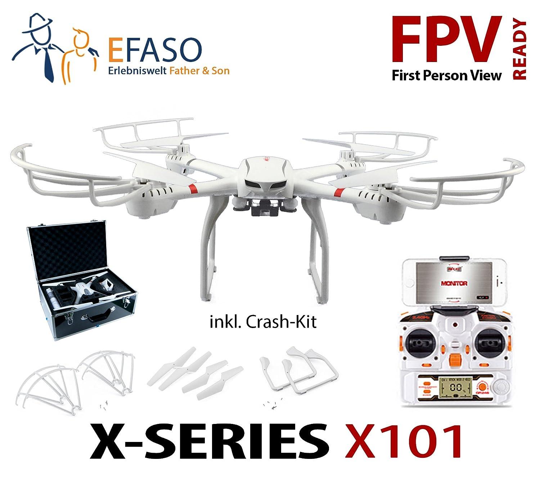 efaso Quadcopter MJX X101 dron en caja de aluminio sin cámara FPV ...