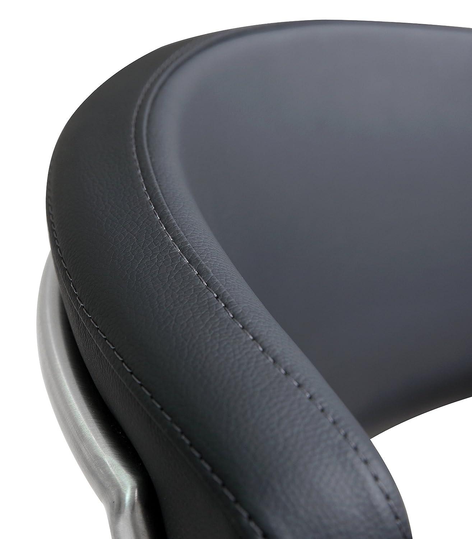 White TOV-K3628 Tov Furniture Cosmo Stainless Steel Barstool