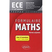 Formulaire Maths ECE 1re et 2e Années En 1 Clin d'Oeil Programme 2014