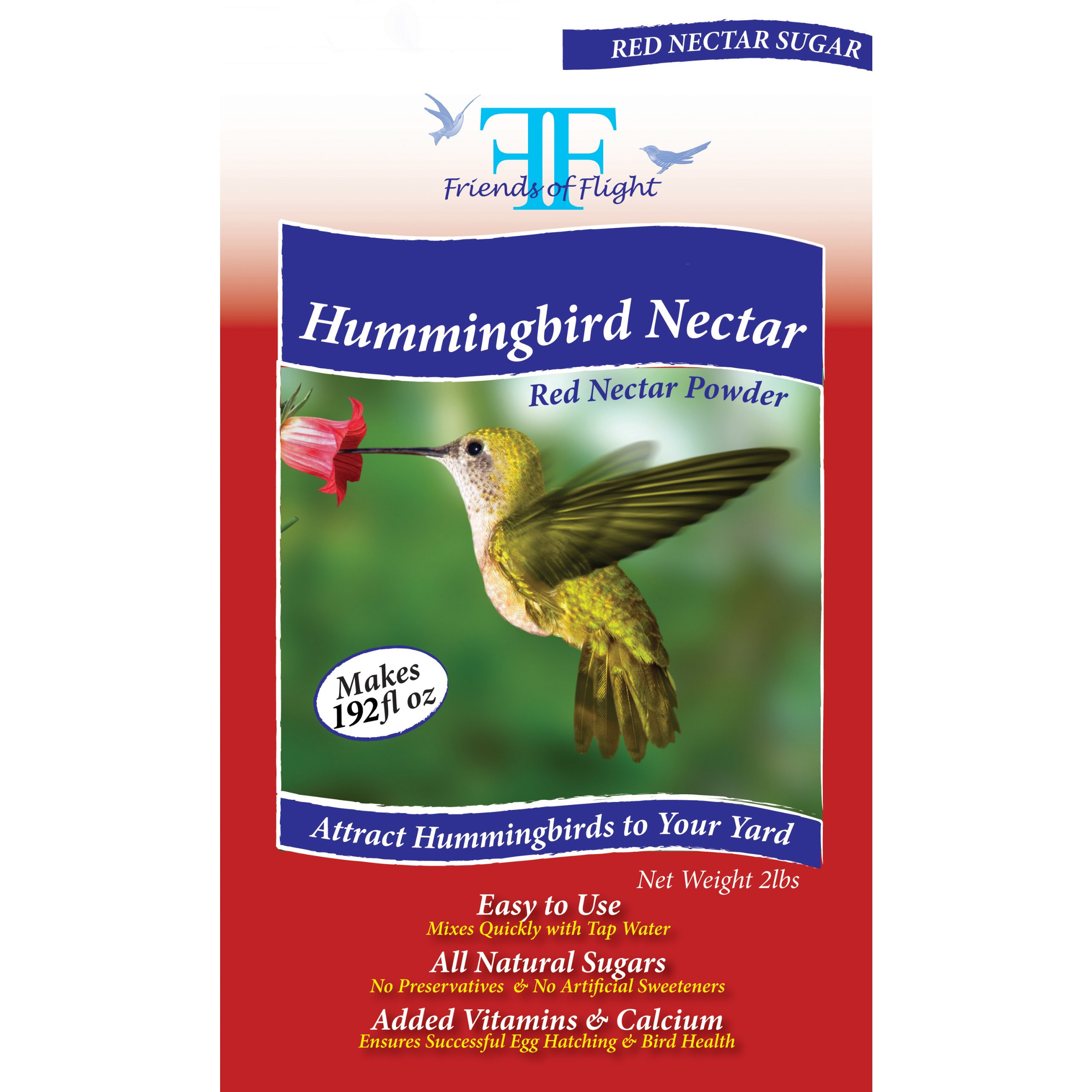 Friends Of Flight Haven 028937 Hummingbird Nectar Powder Sugar, Red, 2 Pounds