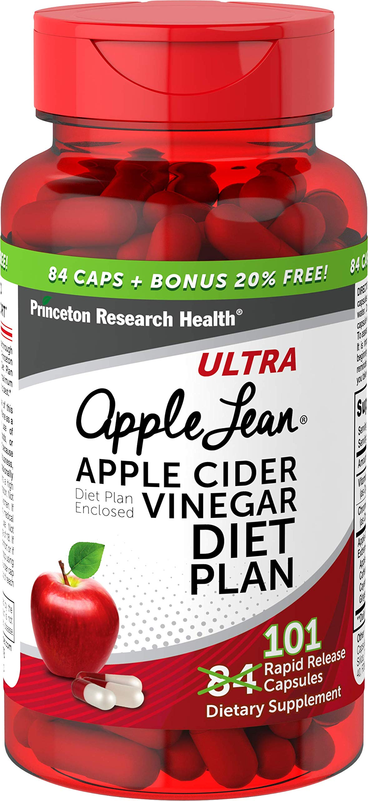 AppleLeanTM Cider Vinegar Diet Complex Supplement, 101 Count by Princeton Research Health