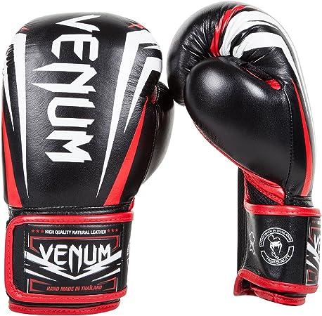 Venum Sharp Gants de Boxe Mixte Adulte 14 oz Noir//Rouge