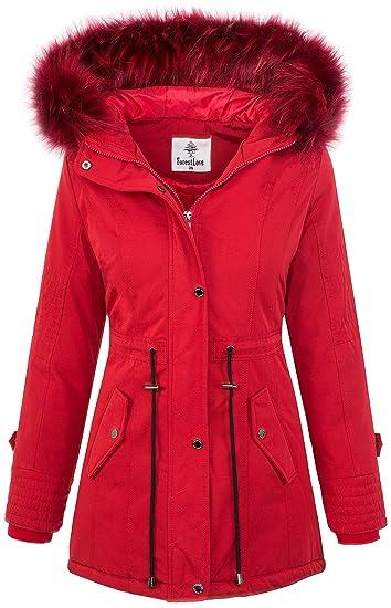 1ec6dc8a17c47 Rock Creek Designer Ladies Jacket Parka Coat Winter Jacket Short Coat  D-345  Amazon.co.uk  Clothing