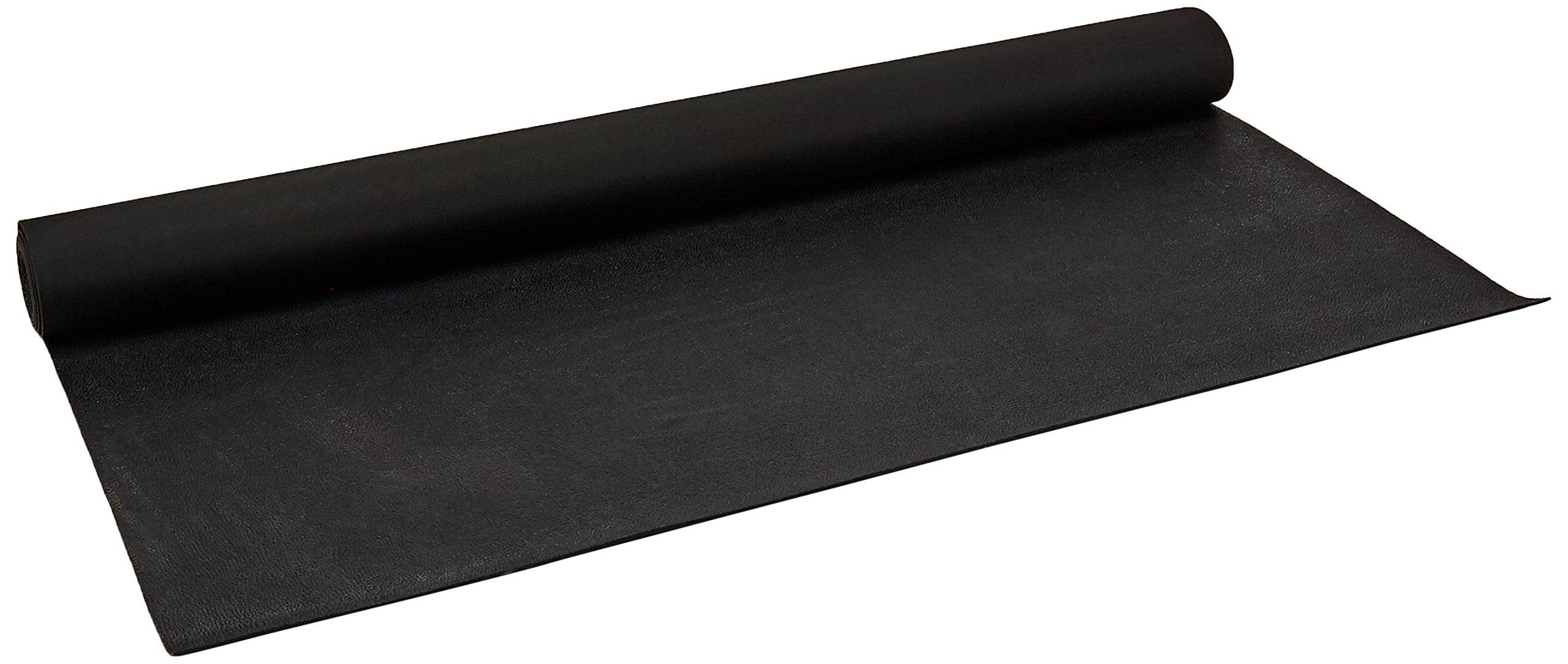 Rubber-Cal Tuff-N-Lastic Rubber Flooring Runners, 1/8-Inch x 4 x 10-Feet, Black