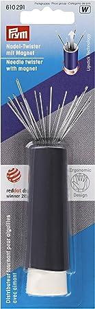 PRYM Love Magnetic Needle Twister /& 19 Assorted Gold Eye Needles 610 288