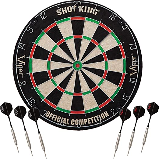 Viper Shot King Regulation Bristle Steel Tip Dartboard Set - The Best Seller