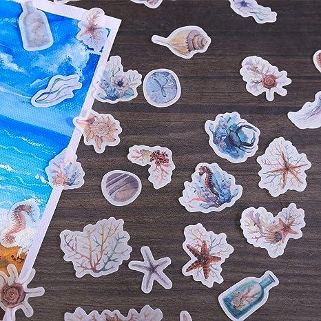 Gr/üner Kaktus Pflanze Dekorative Aufkleber Scrapbooking Aufkleber Etikette Tagebuch Briefpapier Album Bullet Journal Planners Aufkleber 1200 St/ück Fancico Aufkleber 54 Blatt