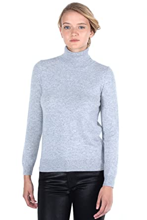 5955a3798e401b JENNIE LIU Women s 100% Pure Cashmere Long Sleeve Pullover Turtleneck  Sweater (PS