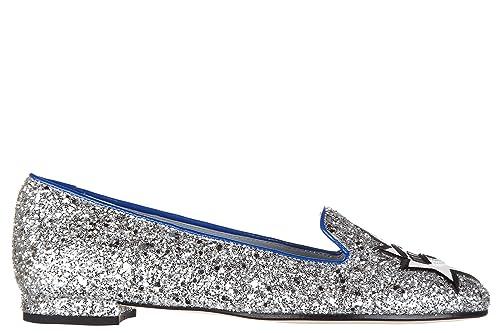Chiara Ferragni Damen Ballet Flats Ballerinas flirting Silber EU 39 CF1215 131d9d70bf