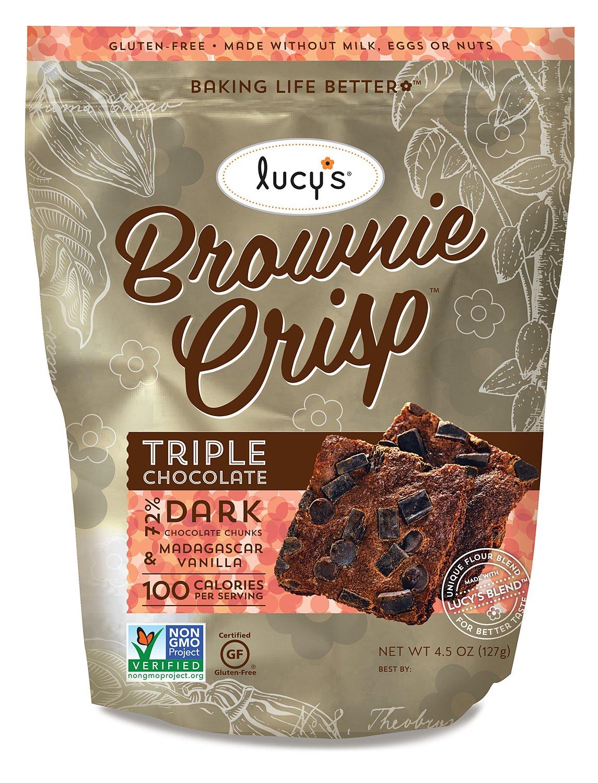 Lucy's Brownie Crisp, Triple Chocolate, 4.5 Ounce