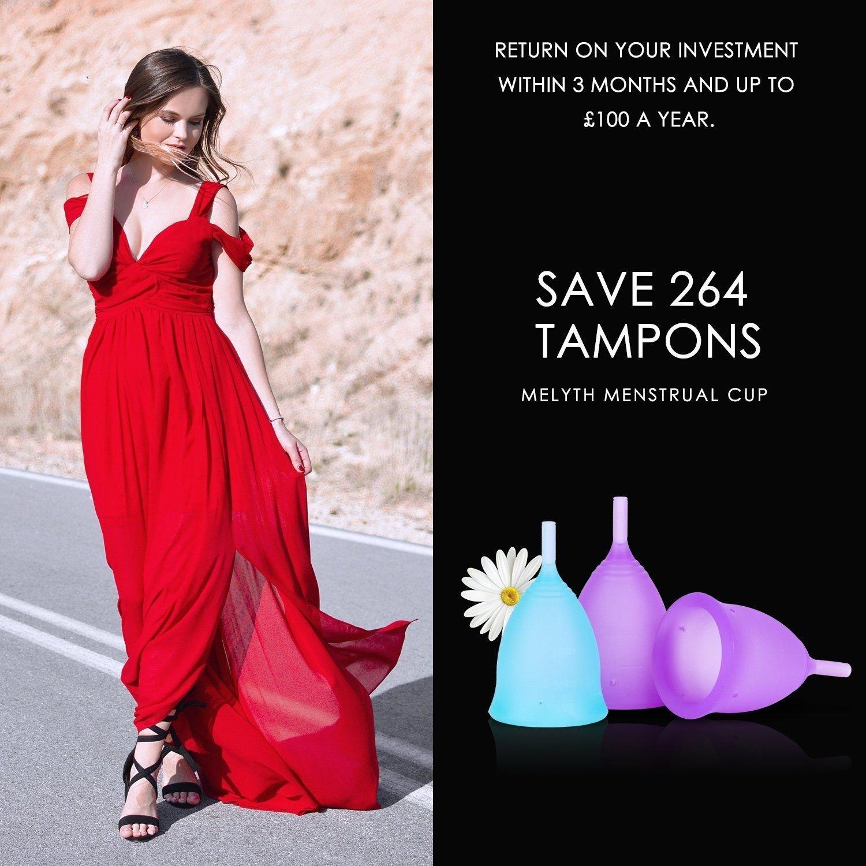 2 Grandes y 1 Peque/ñas - Gratis Taza Plegable Reutilizable La Mejor Alternativa a los Tampones y las Compresas Encuentra La Que Mejor Se Te Ajusta Melyth 3 Copas Menstruales