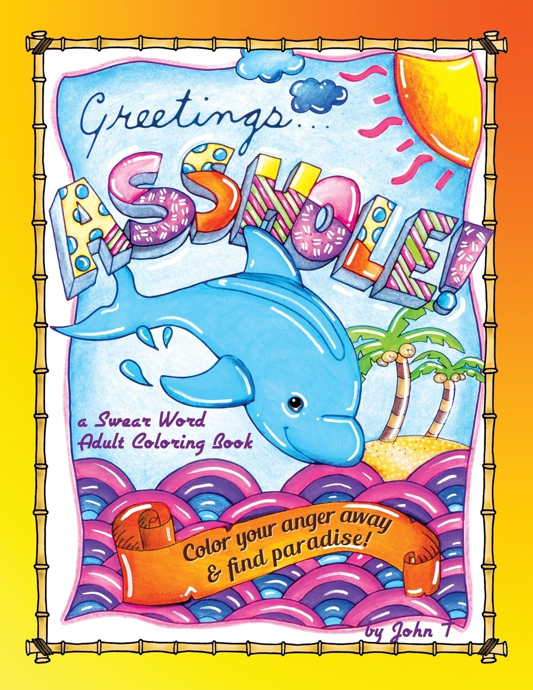 Greetings Asshole Swear Adult Coloring product image