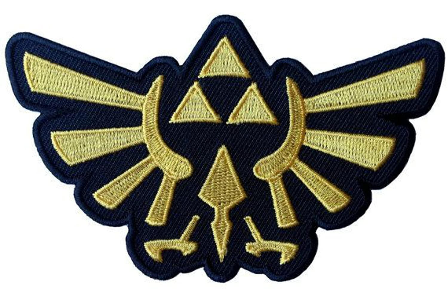 J& C Family Owned Legend of Zelda Hyrule's Royal Crest 4 Gold Logo Embroidered Sew/Iron-on Patch/Applique