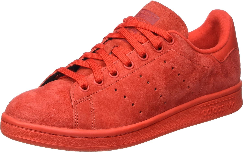 Red Adidas ORIGINALS Men's Stan Smith shoes
