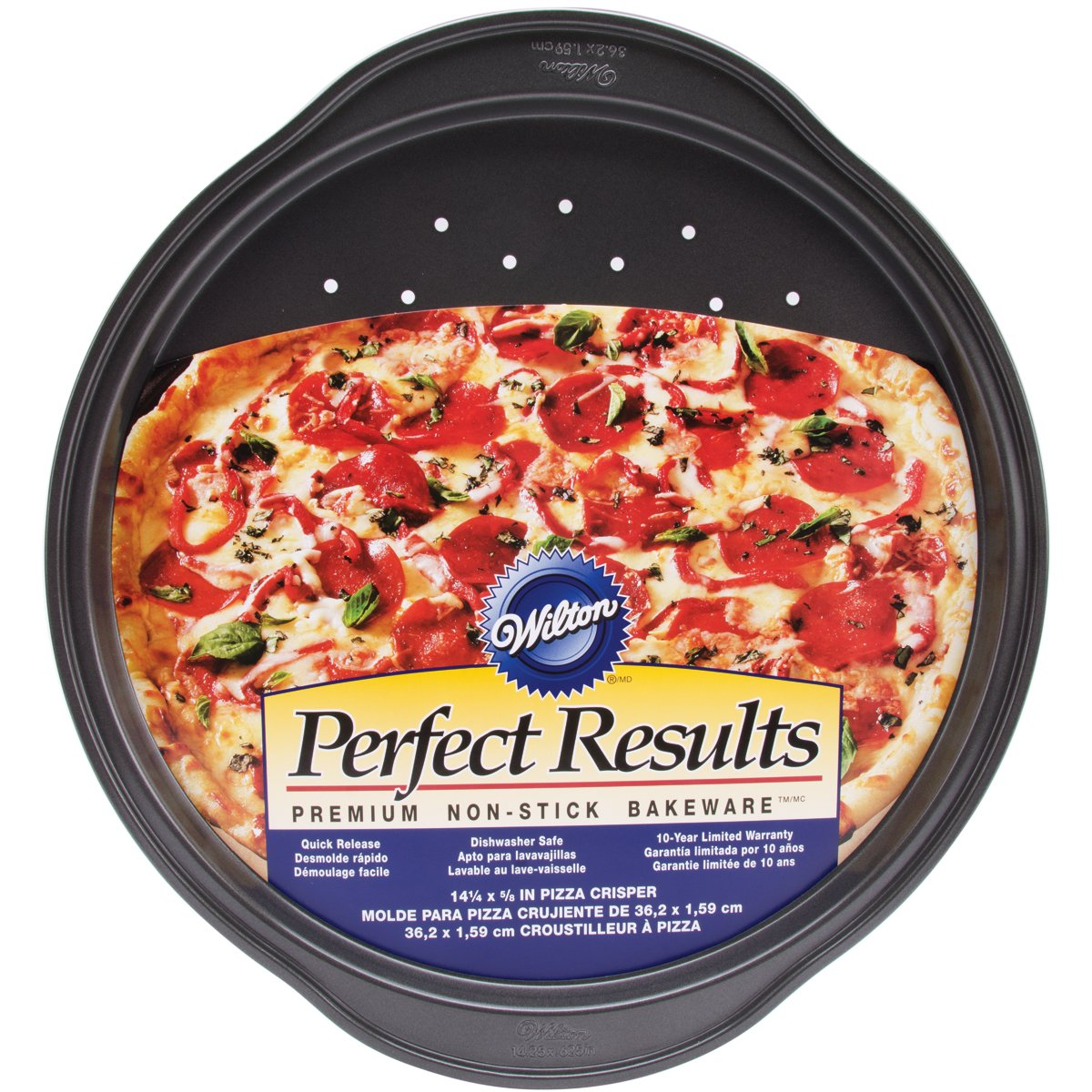 amazon com wilton 2105 6804 perfect results nonstick pizza