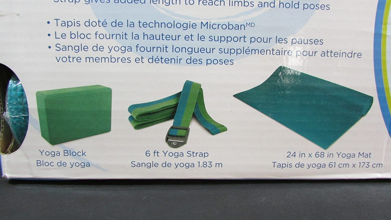 Amazon.com : Renew Yoga 3 Piece Toning Kit Yoga Block 6 ft ...