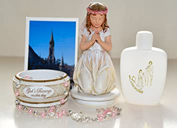Erstkommunion Geschenke Set Fur Ein Madchen Kommunion Rosenkranz