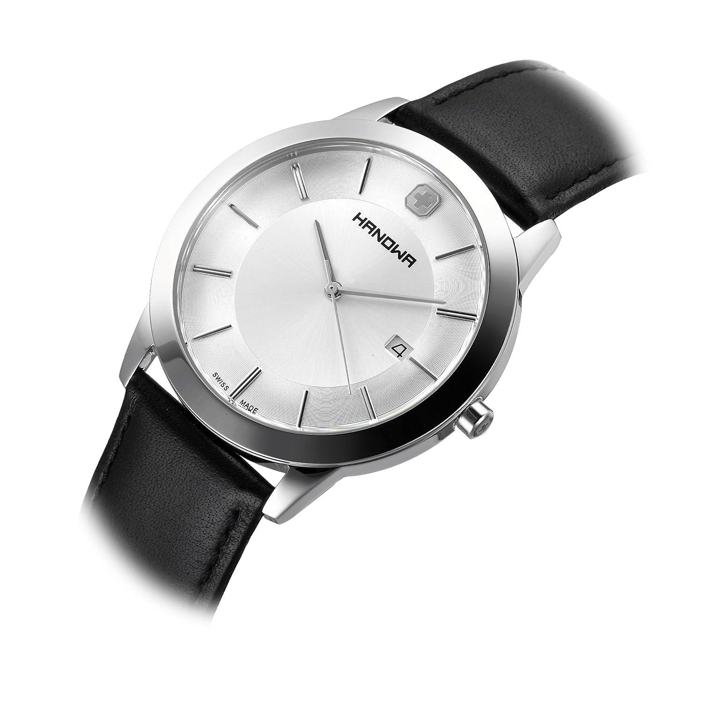 Amazon.com: Hanowa ELEMENTS 16-4042.04.001 Mens Wristwatch Classic & Simple: Watches