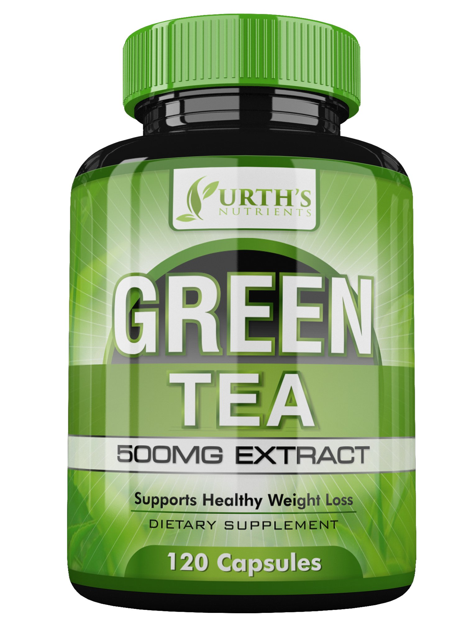 Green Tea Extract Supplement with EGCG - 120 Day Supply - 100% MONEY BACK GUARANTEE - NON GMO - Healthy Weight Loss Support - Made in USA