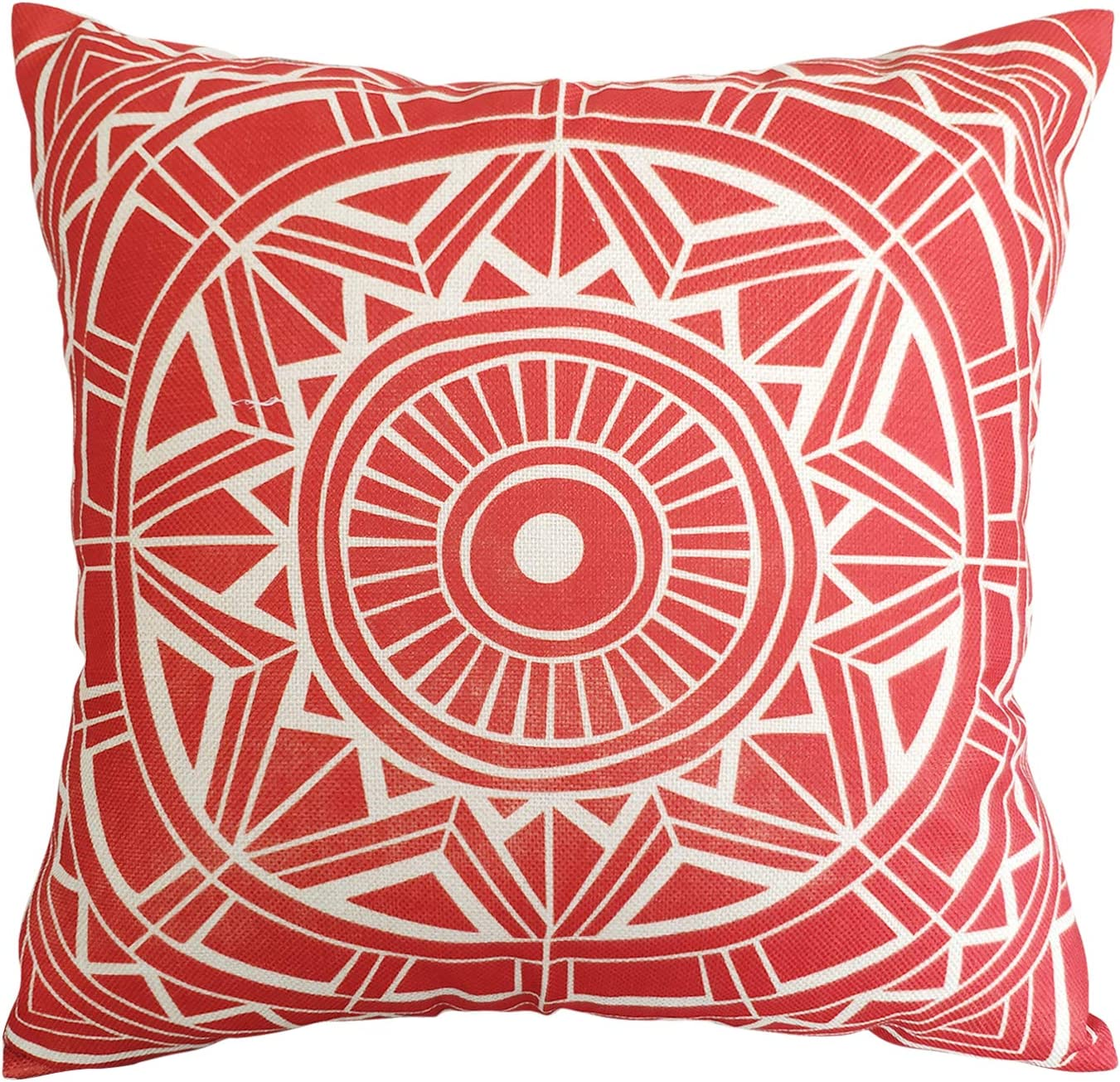 Cushion Covers Size 18 x 18 Printed 100/% Percale Cotton Decorative Floral Circle