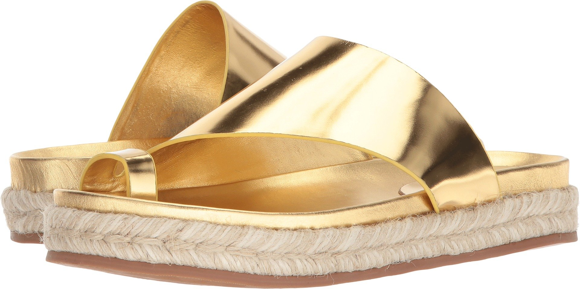 Sigerson Morrison Women's Laddie Gold Super Glass 9 M US