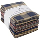 Dunroven House Homespun 12 Piece Fat Quarters, 18 By 21 Inch, Navy