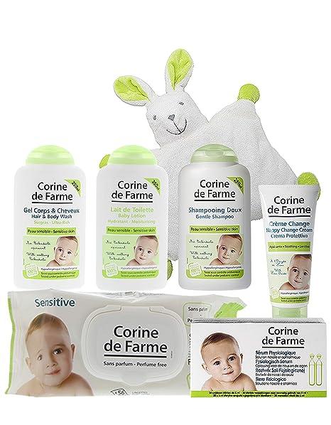 Corine de Farme - Lote de 7 productos para el cuidado y la higiene del bebé