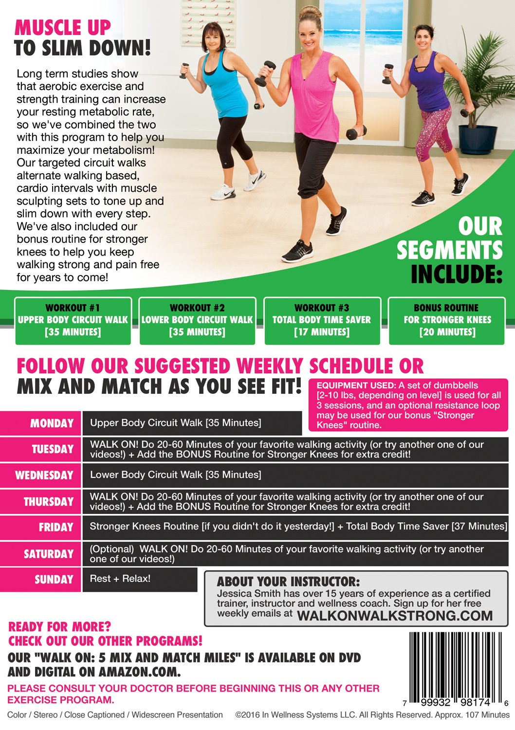 Walk On Metabolism Booster With Jessica Smith At Body Weight Exercises For Women Fullbody Circuit Workout Home Strength Training Beginner Intermediate Level Movies