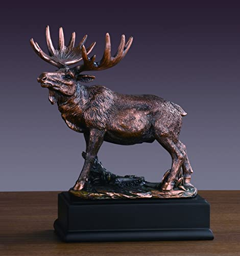 Bronze Finished Moose Statue