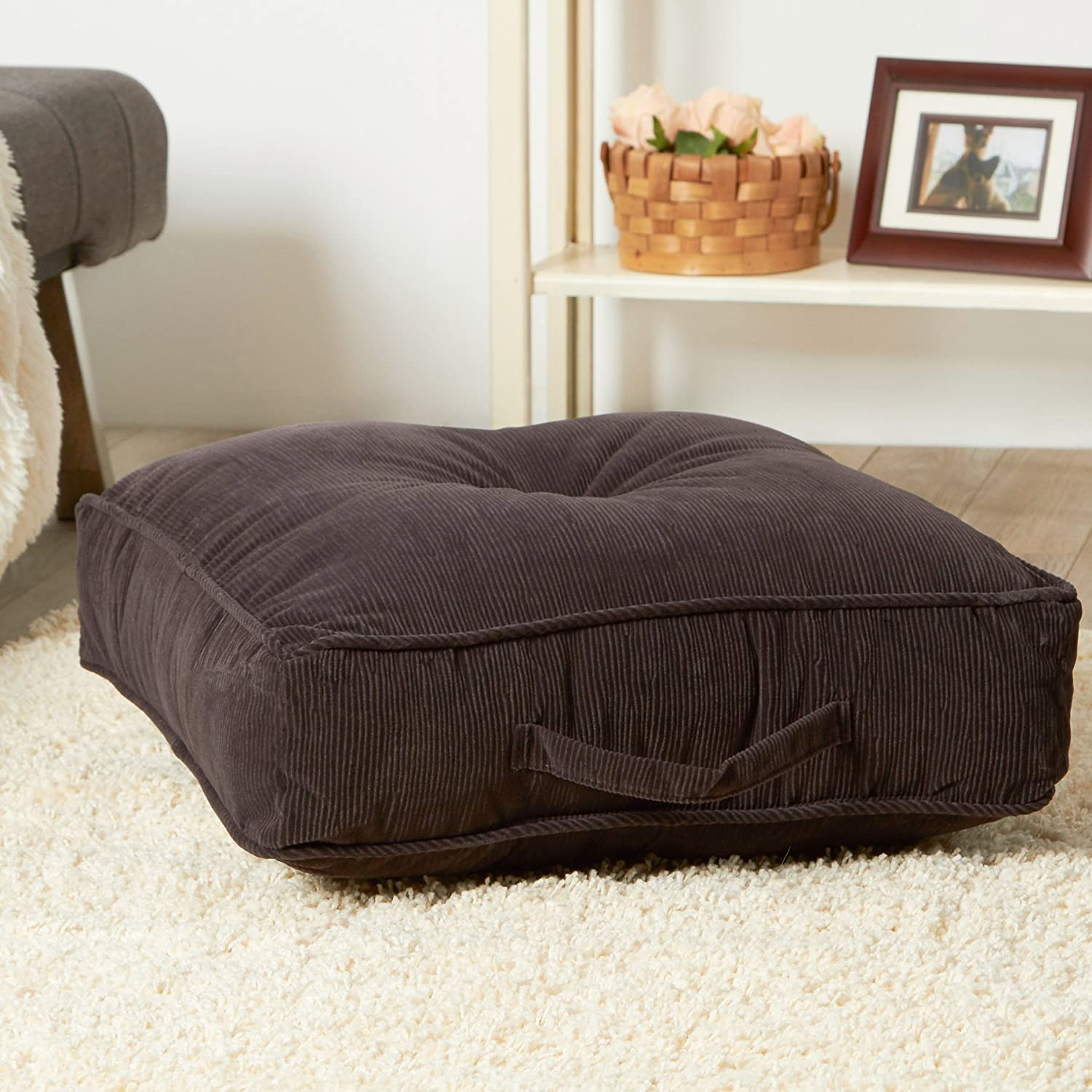 Amazon.com: Greendale Home Fashions 19-Inch Square Floor Pillow ...