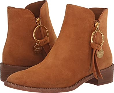 2ea9df27f1a Amazon.com | See by Chloe Women's Louise Flat Signature Boots | Ankle &  Bootie