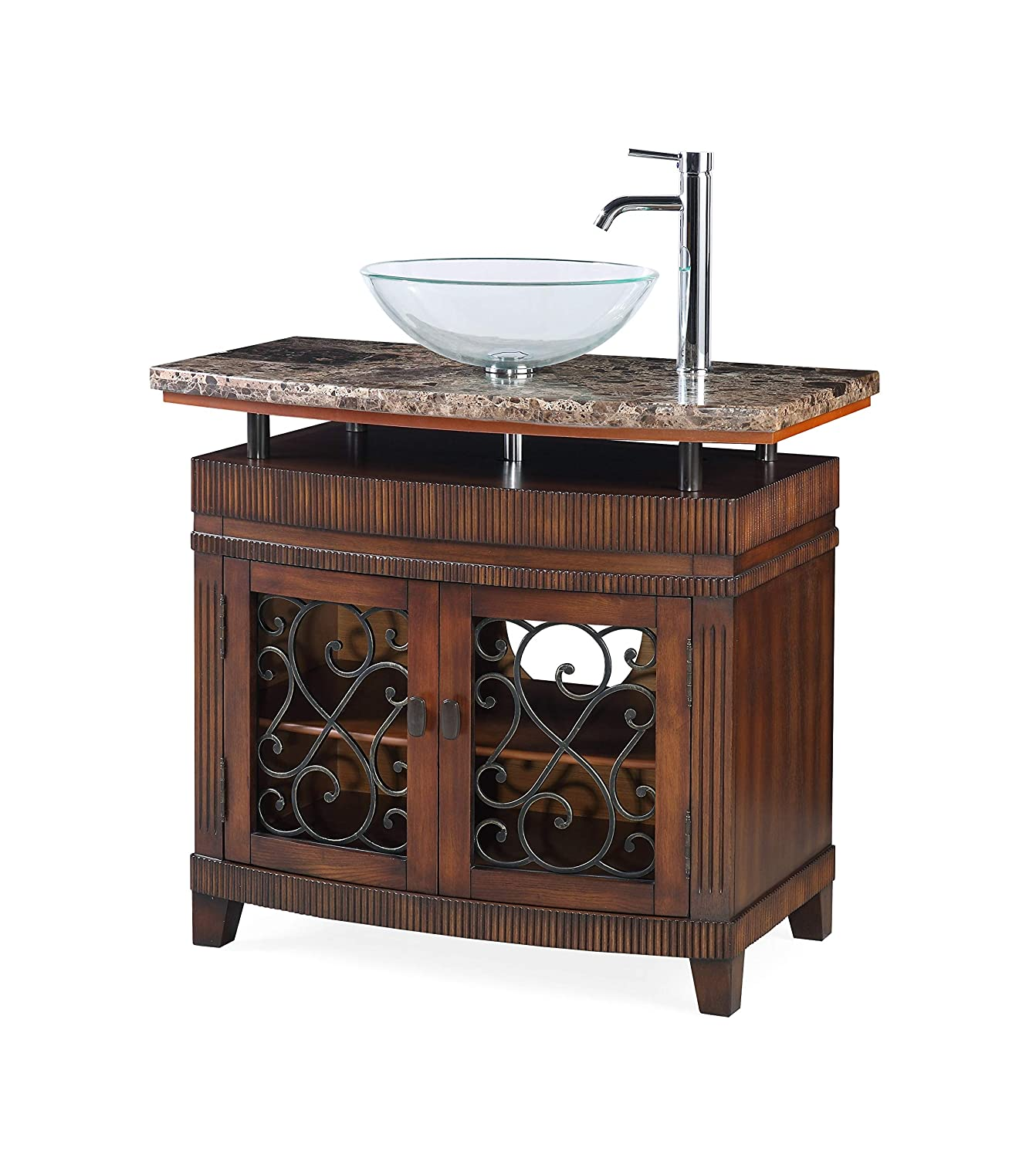 36 Benton Collection Vessel Sink Artturi Bathroom Vanity – Faucet vessel all inclusive Q226BN