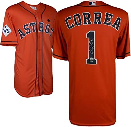 premium selection 2d10b f5c9a Carlos Correa Houston Astros 2017 MLB World Series Champions ...