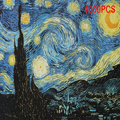 AI RUI ER Starry Night by Vincent Van Gogh Jigsaw Puzzle 1000 Piece Puzzles for Adults: Arts, Crafts & Sewing
