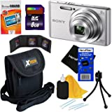 Sony Cyber-shot DSC-W830 20.1 MP Digital Camera with 8x Optical Zoom & Full HD 720p Video, Silver - International Version (No Warranty) + 7pc 8GB Accessory Kit w/ HeroFiber® Gentle Cleaning Cloth
