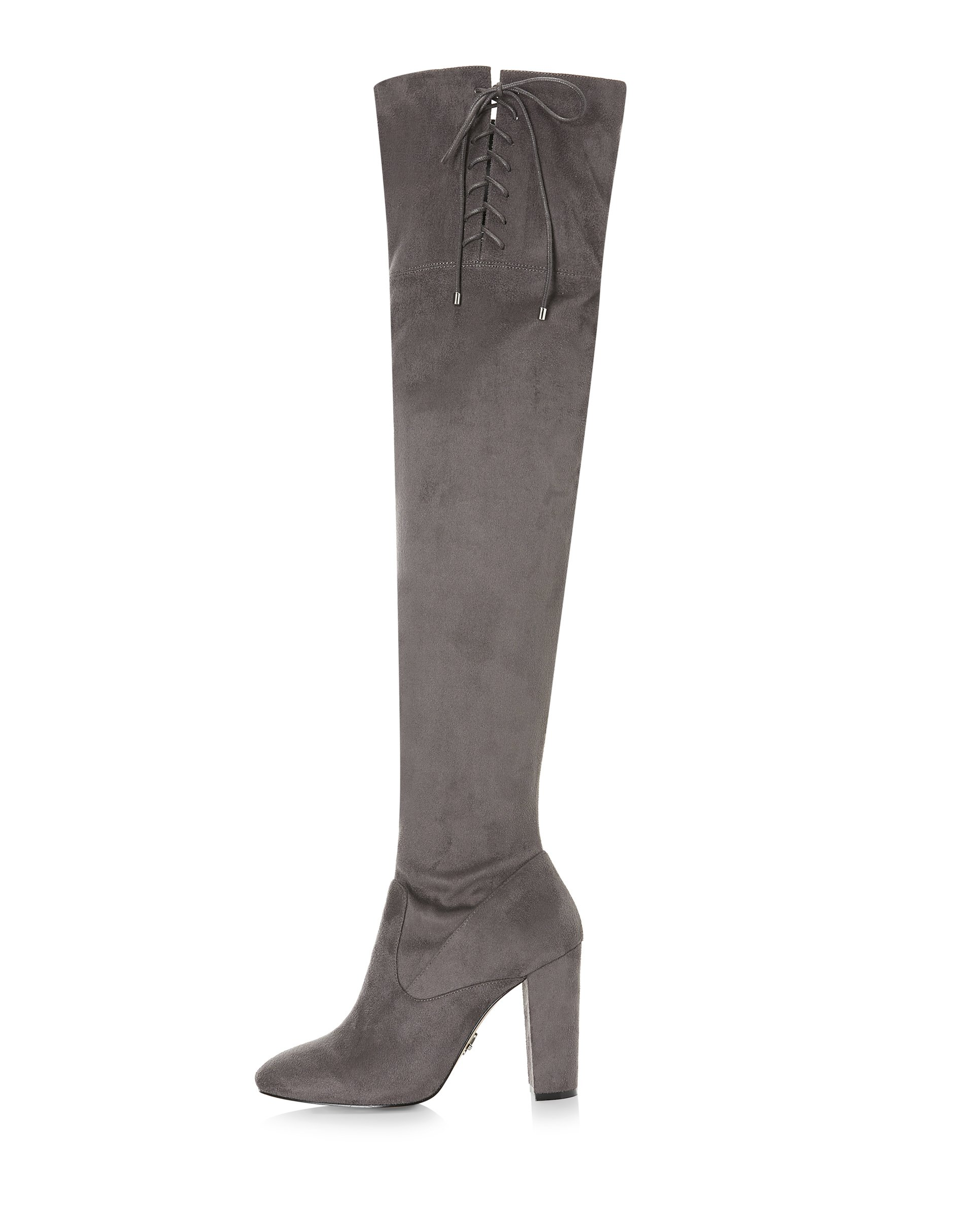 Lipsy Womens Over The Knee Boots Grey US 10