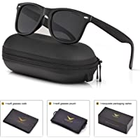 LUENX Mens Sunglasses Polarized Womens UV 400 Protection 54MM with Case