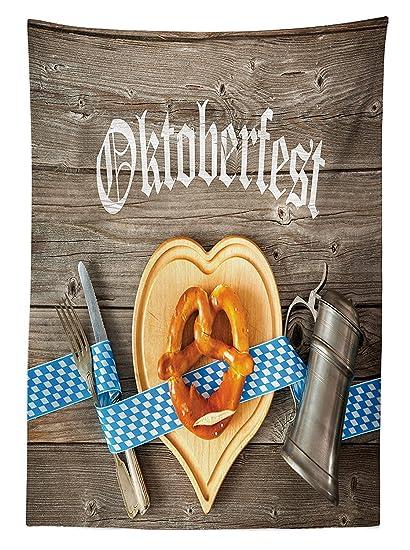 vipsung Mantel Decoraciones de Oktoberfest Oktoberfest Cerveza Festival Cinta de cubertería y Tabla de Cortar de