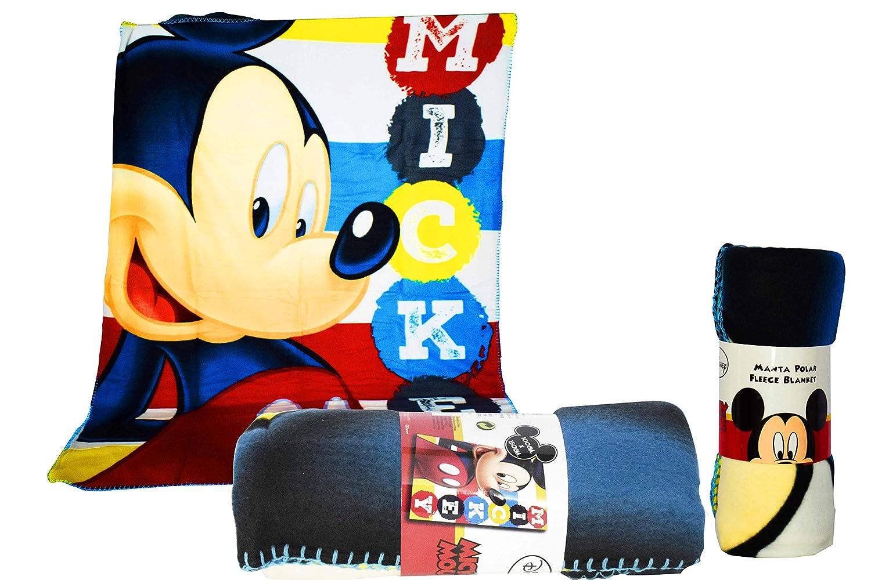 150 x 100 cm 150 x 100 cm Multicolore Disney Topolino Coperta in Pile