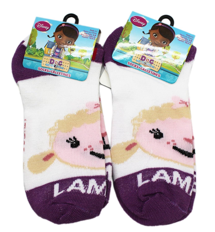 Size 6-8, 2 Pairs Disneys Doc McStuffins Lambie Violet Toe Kids Socks