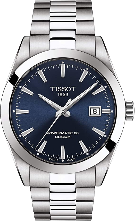 Tissot Mens Gentleman Swiss Automatic Stainless Steel Dress Watch (Model: T1274071104100)