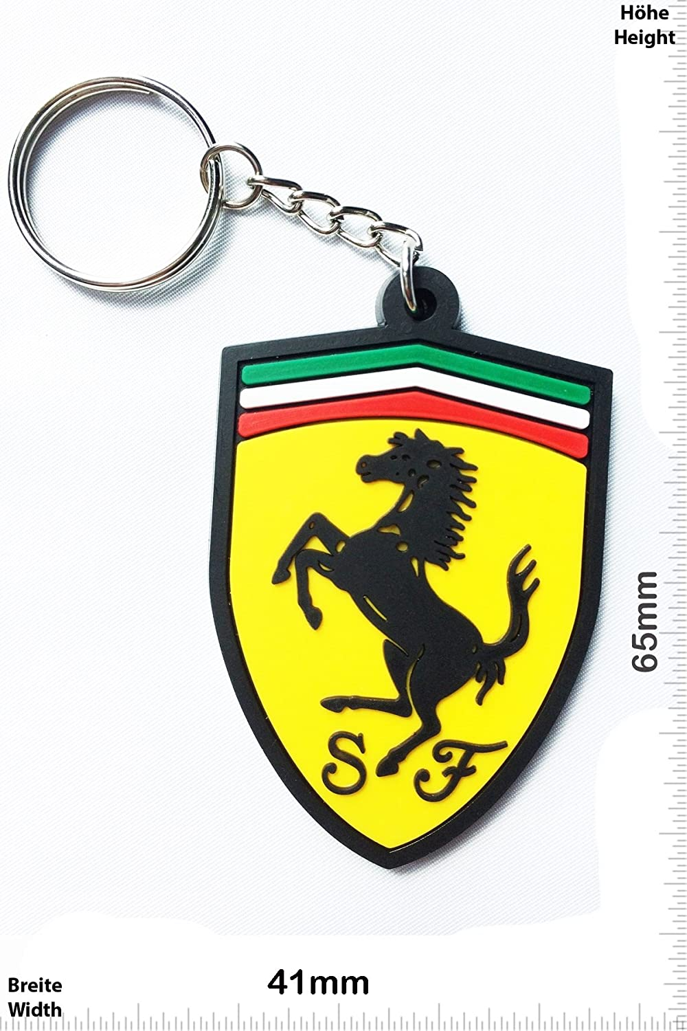 Keychains Porte-clés - Ferrari - Car - sports car - Key Ring - Kautschuk Rrubber Keyring - perfect also bags, wallets or briefcase - Give away