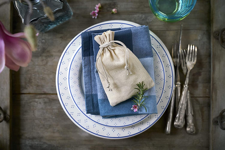 emballage cadeau en lin and coton produts 100/% natural Lot de 12 sacs en lin avec cordeli/ère en coton dimension 10 x 8 cm